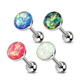 Lot de 4 piercing langue imitation opales