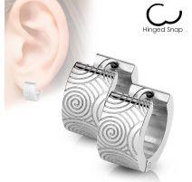 Paire Boucles d'oreille anneaux clips spirales