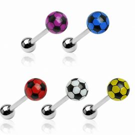 Piercing langue ballon de foot