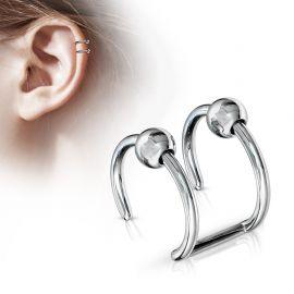 Faux Piercing Oreille Cartilage acier Billes
