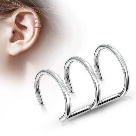 Faux Piercing Oreille Cartilage Triple Anneaux