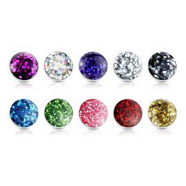 Piercing microdermal glitter