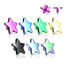 Piercing microdermal étoile titanium