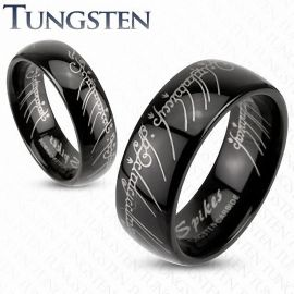 "Bague Tungstène ""Lord Of The Ring"" Noire"