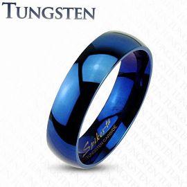 """Bague """"Mariage"""" traditionnelle en Tungstène Bleu"""