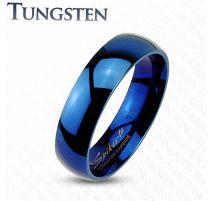 """Bague """"Mariage"""" traditionnelle en Tungstène Bleu - Bague homme et femme en tungstene"""