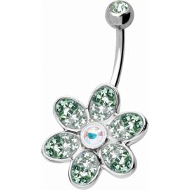 Piercing nombril Crystal Evolution Swarovski Fleur