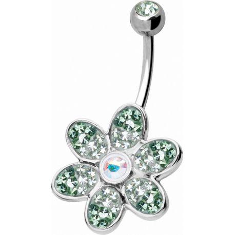 Piercing nombril Crystal Evolution Swarovski Fleur