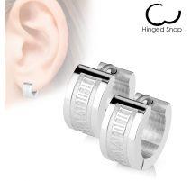 Paire Boucles d'oreille anneaux chiffres romains