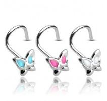 Piercing nez Argent 925/1000 Papillon