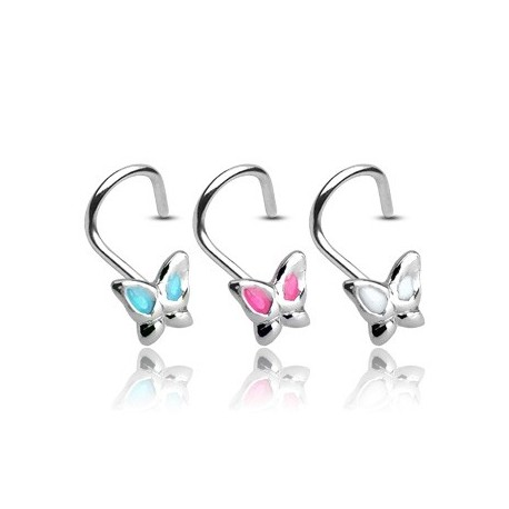 Piercing nez Argent 925/1000 Papillon - Bijou Piercing Nez