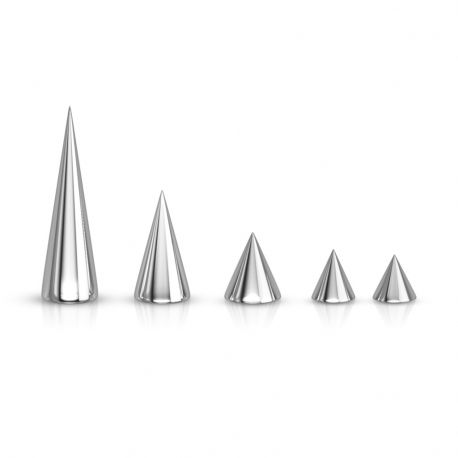 Pointe pour piercing en acier
