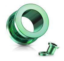 Piercing tunnel en acier Vert