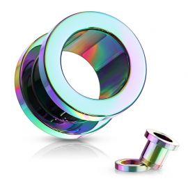 Piercing tunnel en acier Multicolore