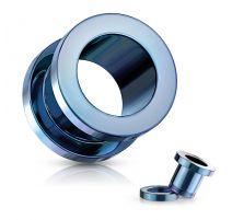 Piercing tunnel en acier Bleu clair