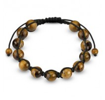 Bracelet Shamballa avec billes Oeil de tigre