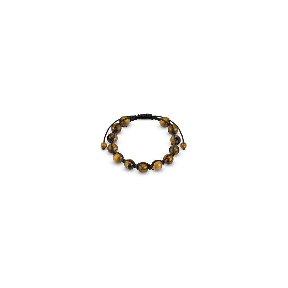 bracelet shamballa avec billes oeil de tigre. Black Bedroom Furniture Sets. Home Design Ideas