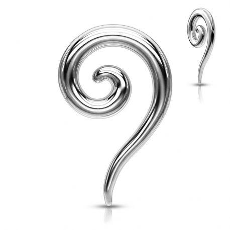 Piercing écarteur oreille Spirale en Acier Chirurgical
