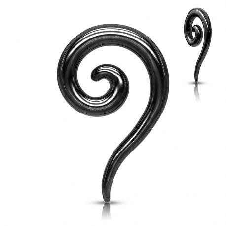 Piercing écarteur spirale en acier chirurgical noir