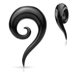 Piercing écarteur oreille spirale corne de buffle