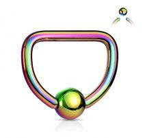 Piercing anneau Captif D acier multicolore
