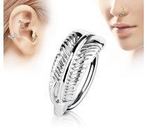 Piercing nez anneau plume