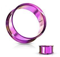 Piercing tunnel creux oreille en acier violet