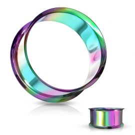 Piercing tunnel creux oreille en acier multicolore
