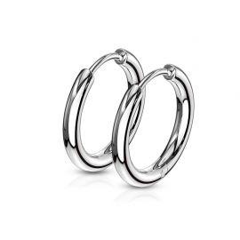 Paire boucles d'oreille anneaux en acier inoxydable