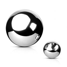 Boule de piercing en acier argenté