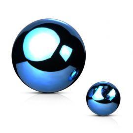 Boule de piercing en acier bleu