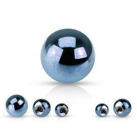 Boule de piercing en acier bleu clair