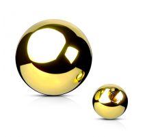 Boule de piercing en acier doré