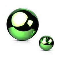 Boule de piercing en acier vert