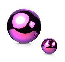 Boule de piercing en acier violet