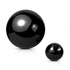 Boule de piercing en acier noir