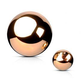 Boule de piercing en acier rosé