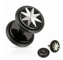 Piercing oreille faux plug étoile