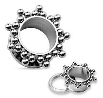 Piercing tunnel oreille cluster boules