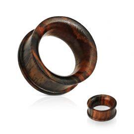 Piercing tunnel oreille en bois de sono concave