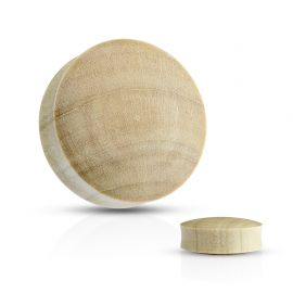 Piercing plug oreille convexe en bois de crocodile