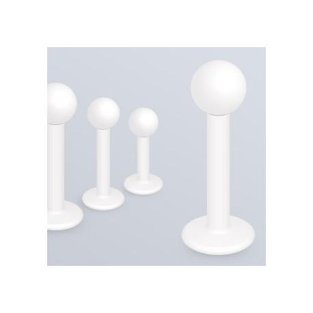 Piercing Labret acier chirurgical Blanc Mat - Bijou Piercing Labret