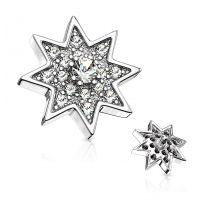 Piercing microdermal étoile étincelante pavée de strass