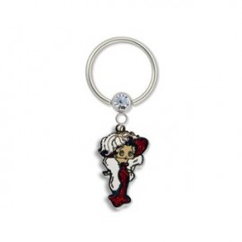 "Piercing Téton anneau Captif Betty Boop ""Mae West"""