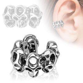 Faux piercing oreille manchette skulls