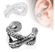 Faux piercing oreille manchette serpent