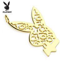Pendentif Playboy Logo XOXO doré