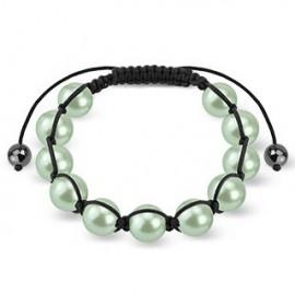 Bracelet Shamballa avec billes perles vertes