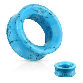 Piercing tunnel oreille en pierre turquoise