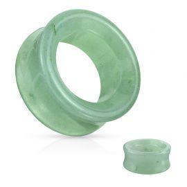 Piercing tunnel oreille en pierre quartz aventurine verte